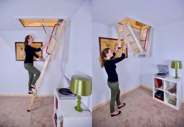 ahşap çatı çıkış merdivenleri