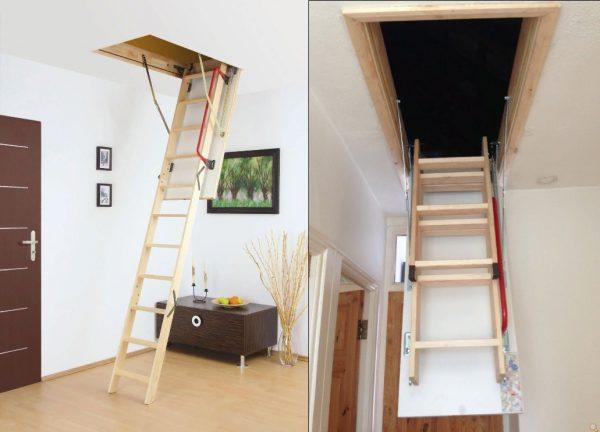 ahşap çatı merdiveni modeli