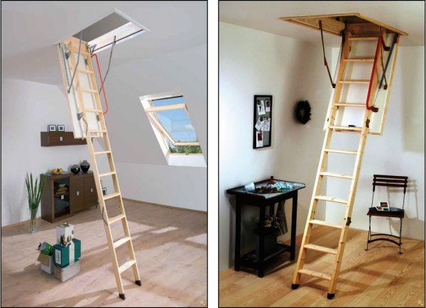 fakro ahşap katlanır çatı merdiveni