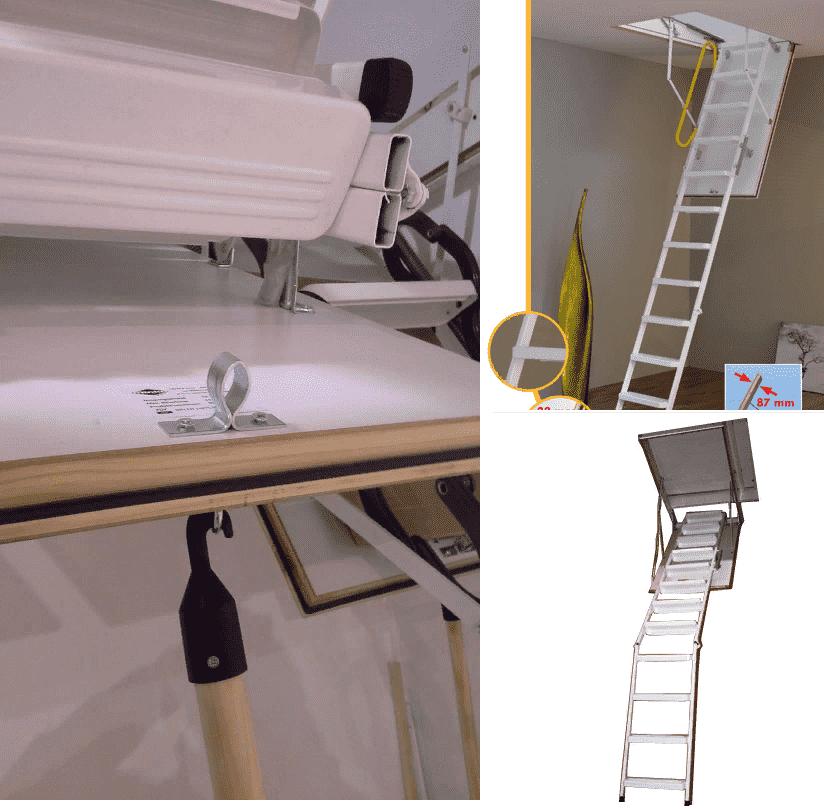 minka çatı merdiven özelliği