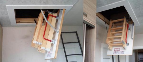 fakro portatif katlanır çatı merdiven modelleri