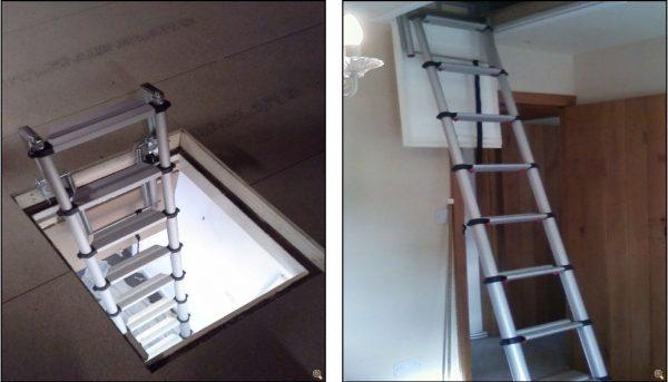 teleskopik çatı çıkış merdivenleri